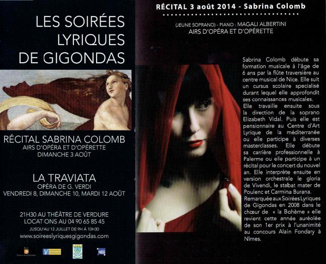 21 èmes Soirée Lyrique Gigondas