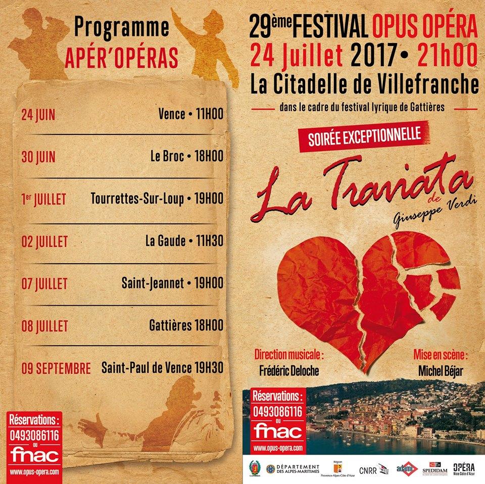 Retrouvez moi avec Opus Opéra le 24 juin à Vence le 08 juillet à Gattières ainsi que le 14 Juillet à Gattieres pour un hommage aux victimes des attentats de Nice en 2016