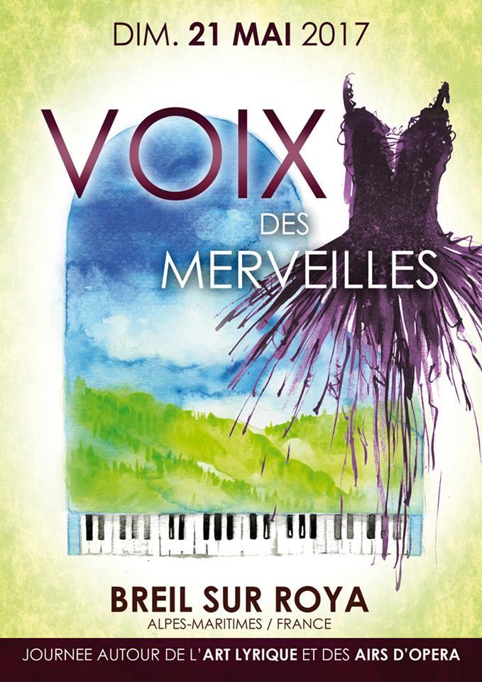 Voix des merveilles  «La joie et l'amour dans l'opéra » 21 mai Breil sur roya