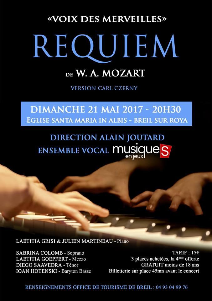 Requiem de W. A. Mozart  «Voix des merveilles» 21 mai 2017